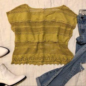 PacSun crochet knit top